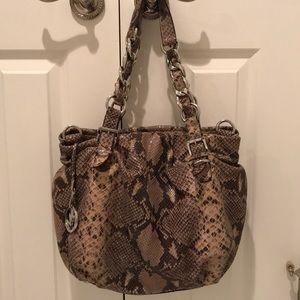 Michael Kors crocodile embossed handbag